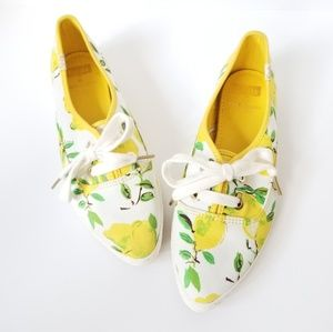 Kate Spade Lemon pointy toe Keds 7.5